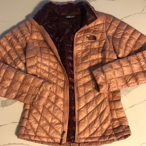 North Face dusty rose puffer